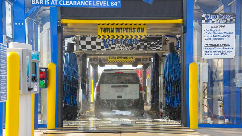 car wash photos Texas AUTEC inbay express