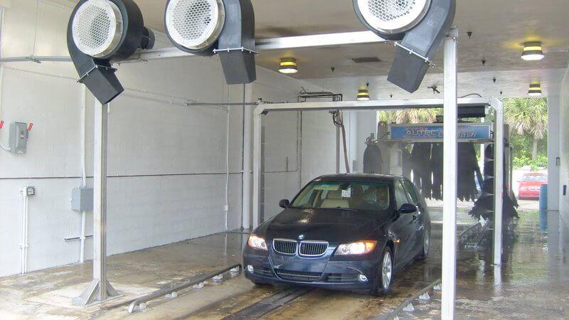 car wash photo Texas auto dealer blowers dryers